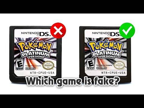How to Spot a Fake Pokemon Platinum Nintendo DS Game Cartridge!