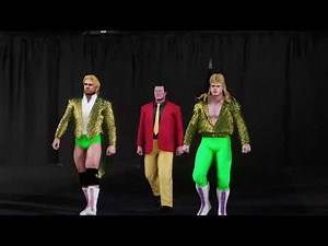WWE2K18 - ROCK AND ROLL EXPRESS AND THE MIDNIGHT EXPRESS ENTRANCE W/ Original music