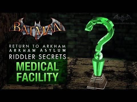 Batman: Return to Arkham Asylum - Riddler's Challenge - Medical Facility (All Collectibles)