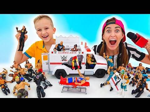 Vlad and Niki have fun with WWE Toys