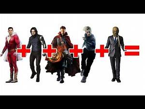 MARVEL DC CHARACTER FUSION! SHAZAM! + DR STRANGE + WINTER SOLDIER + QUICKSILVER + SCARECROW!