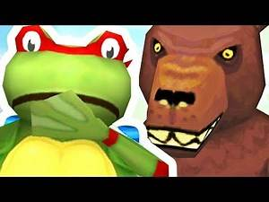 TMNT FROG FINDS A GIANT BEAR OUTSIDE THE MAP! - Amazing Frog - Part 141 | Pungence