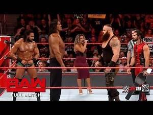 FULL MATCH - The Great Khali & Jinder Mahal vs. Seth Rollins & Braun Strowman : RAW Tag Team Titles