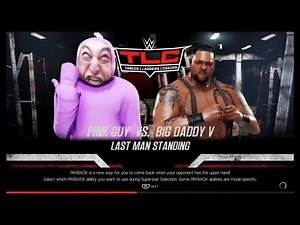 Pink Guy vs. Big Daddy (WWE 2K19)