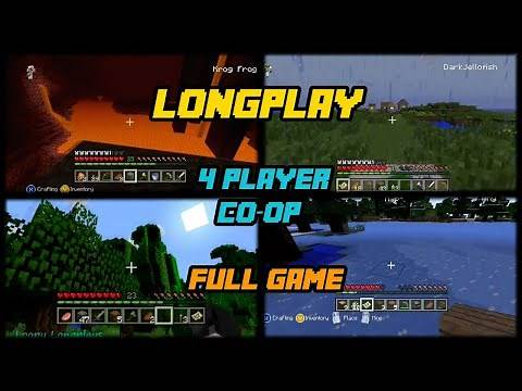 Minecraft - Longplay (4 Player Co-op) Full Game (Xbox 360 Edition) Walkthrough (No Commentary)
