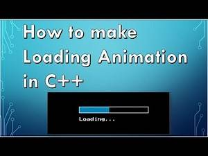 How to make Loading animation in C++ | delay function | C++ Graphics | SmartArt Presentations