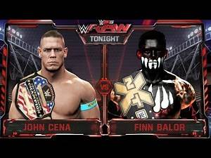 WWE RAW 7/13/15 - John Cena vs Finn Balor United State Championship Match