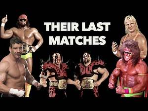 The last matches of Randy Savage, Ultimate Warrior, Mr Perfect, Eddie Guerrero and The Road Warriors