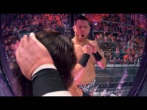 See up-close footage of Superstar reactions inside this year's Elimination Chamber Match