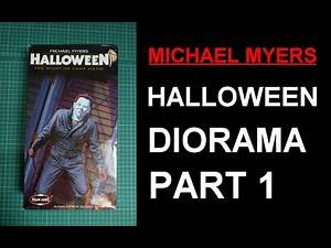 Michael Myers Halloween Horror Diorama Build Part 1