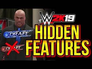 WWE 2K19 - HIDDEN FEATURES! (Drafted!, BLACKOUT Arena & More YOU MIGHT NOT KNOW)