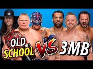 Rey Mysterio & Undertaker & Lesnar vs 3MB (Jinder Mahal & Drew McIntyre & Slater)
