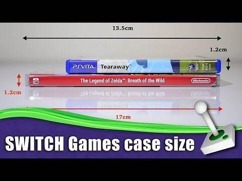 Nintendo Switch Game Case - Size Comparisons - VS - VITA/ PSP/ Blu Ray/ PS4/ DVD