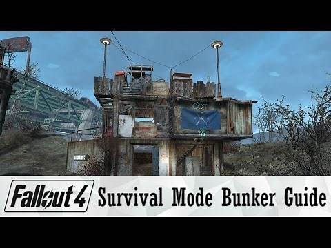Fallout 4 Survival Mode Bunker Build Guide | Survive Any Attack!