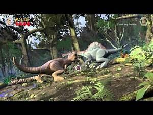LEGO Jurassic World Spinosaurus vs T.rex