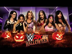 WWE 2K16: 6-Diva Halloween Special Tag Team Match