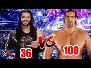 "Roman Reigns ""36 Rated"" vs The Great Khali ""100 Rated"" 
