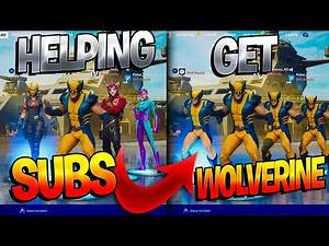 Helping My Subscribers DEFEAT Wolverine In Fortnite! (Helping Subs Unlock The Wolverine Skin)