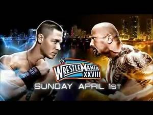 WWE Wrestlemania 28 New Match Card John Cena vs The Rock 2012