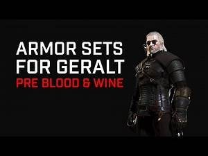 The Witcher 3 Armor Sets (pre Blood & Wine)
