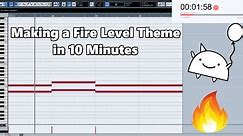 Attempting to Make a Fire Level Theme in 10 Minutes || Shady Cicada