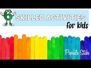FINE MOTOR GAMES with Popsicle Sticks l Teletherapy Ideas for Therapists, Teachers, Parents