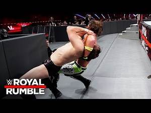 AJ Styles drives Daniel Bryan into the arena floor with a punishing reverse DDT: Royal Rumble 2019