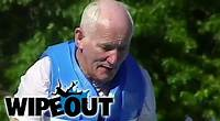 Old Man Gets Knocked Down | Winter Wipeout HD