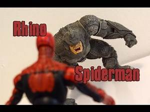 Marvel Toys r us Comic 2 pack Rhino & Spiderman