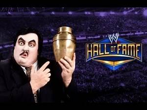 Paul bearer gets inducted into the Hall of Fame