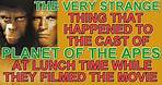 What VERY STRANGE thing happened to the cast of PLANET OF THE APES at lunch time, while they filmed?