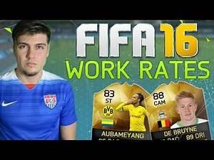 BEST WORK RATES IN FIFA 16 ULTIMATE TEAM! STRIKERS, MIDFIELDERS & DEFENDERS! (FUT 16)