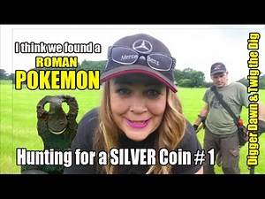 Digger Dawn & Twig the Dig - SILVER Coin Hunt #1 I found a ROMAN POKEMON! (103)