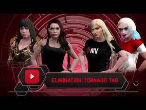 WWE 2K17 Naomi,Harley VS Angelina,Xena In A Elimination Tag Match For Naomi Kyle Birthday Tribute