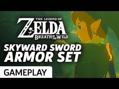 Skyward Sword Armor and Goddess Weapon in Zelda: Breath of the Wild Gameplay