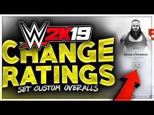 WWE 2K19 – How To Change Any Rating! (Change Any Superstar's Overall In WWE 2K19)