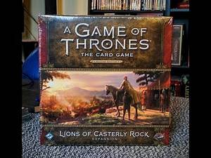 Game of Thrones LCG Art Review Lions of Casterly Rock