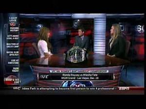 Ronda Rousey and Miesha Tate sit face to face in the Sportscenter studio 8/1/13
