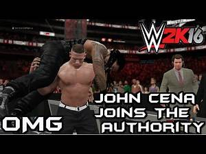 WWE 2k16 John Cena Joins The Authority And Screws Roman Reigns