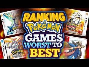 Ranking All The Pokemon Games Worst to Best|Best Pokemon Game|Hindi Explained
