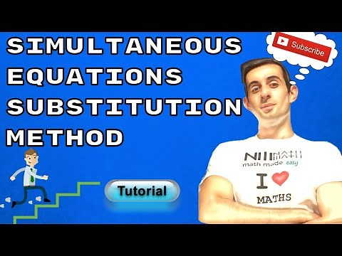 Solving Simultaneous Equations Using Substitution Method Step by Step