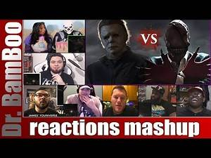 MICHAEL MYERS VS THE LOOK SEE - Super Horror Beat Down REACTIONS MASHUP
