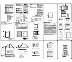 10x12 run in shed plans free Plan