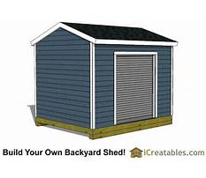 10x12 shed plans with loft Plan