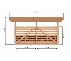 12x16 wood shed Plan