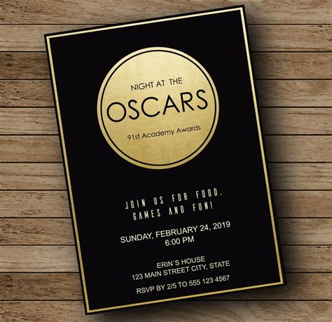 Oscars Invitation