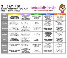 21 day vegetarian diet Plan