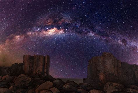 Night Sky Desert Milky Way Galaxy