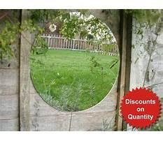Acrylic garden mirrors Plan
