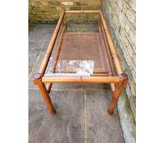Antique bamboo end table Plan
